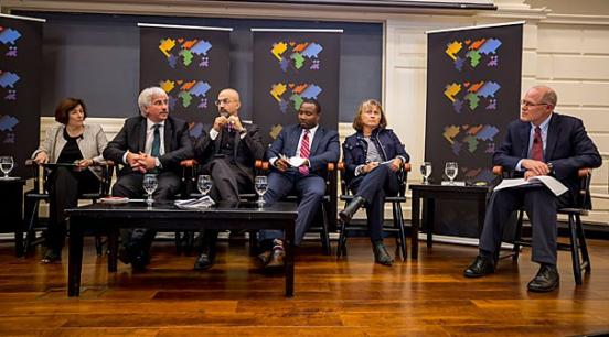 The Future of Cities panel discussion from Worldwide Week at Harvard 2017 | Photo by Rose Lincoln / Harvard staff photographer